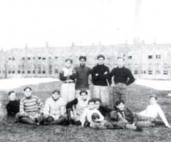Vintage photo of Mishawaka High School football team,1902