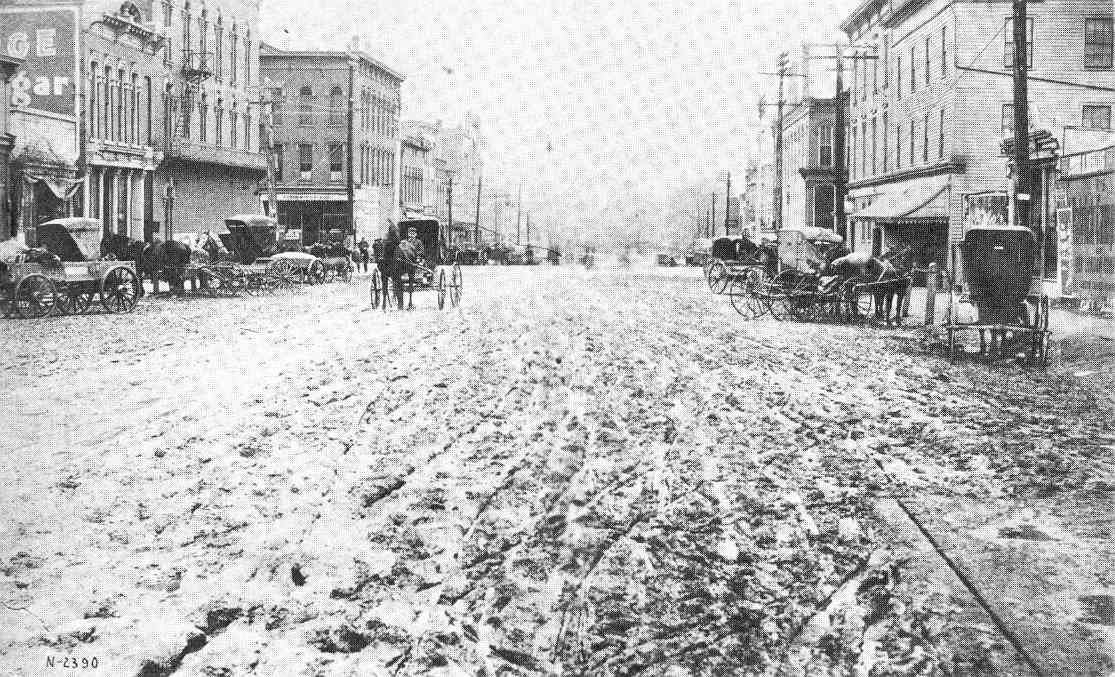 Vintage photo of Main Street in Mishawaka, circa 1890's