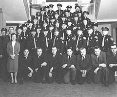 Vintage photo of the Mishawaka Police Department, 1963.