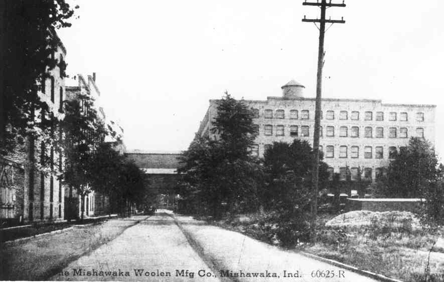 Vintage photo of the Woolen Mill building